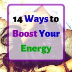 "A woman sleeping on the ground, in her clothes and with her hair everywhere, headline ""14 ways to boost your energy"""