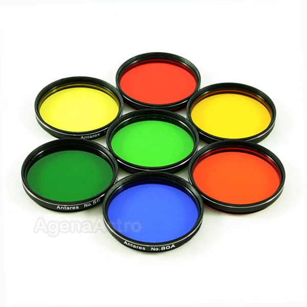 """Antares 2"""" Color Filters (Set of 7 Filters)   AstronomyConnect"""