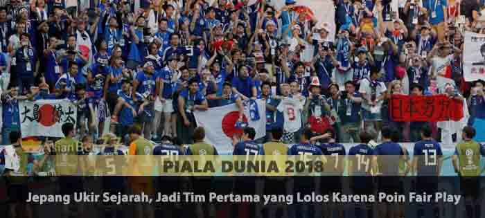 Jepang Ukir Sejarah, Jadi Tim Pertama yang Lolos Karena Poin Fair Play Agen Bola Piala Dunia 2018