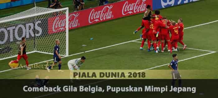 Comeback Gila Belgia, Pupuskan Mimpi Jepang Agen Bola Piala Dunia 2018