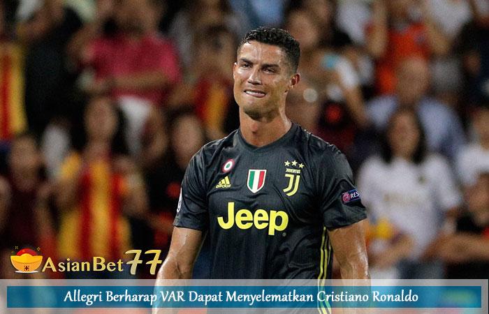Allegri-Berharap-VAR-Dapat-Menyelematkan-Cristiano-Ronaldo