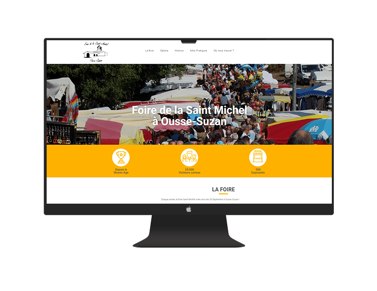 AGENCE CREATION SITE INTERNET VITRINE FOIRE OUSSE SUZAN REFERENCEMENT HEBERGEMENT