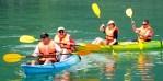 kayak en baie d'Halong