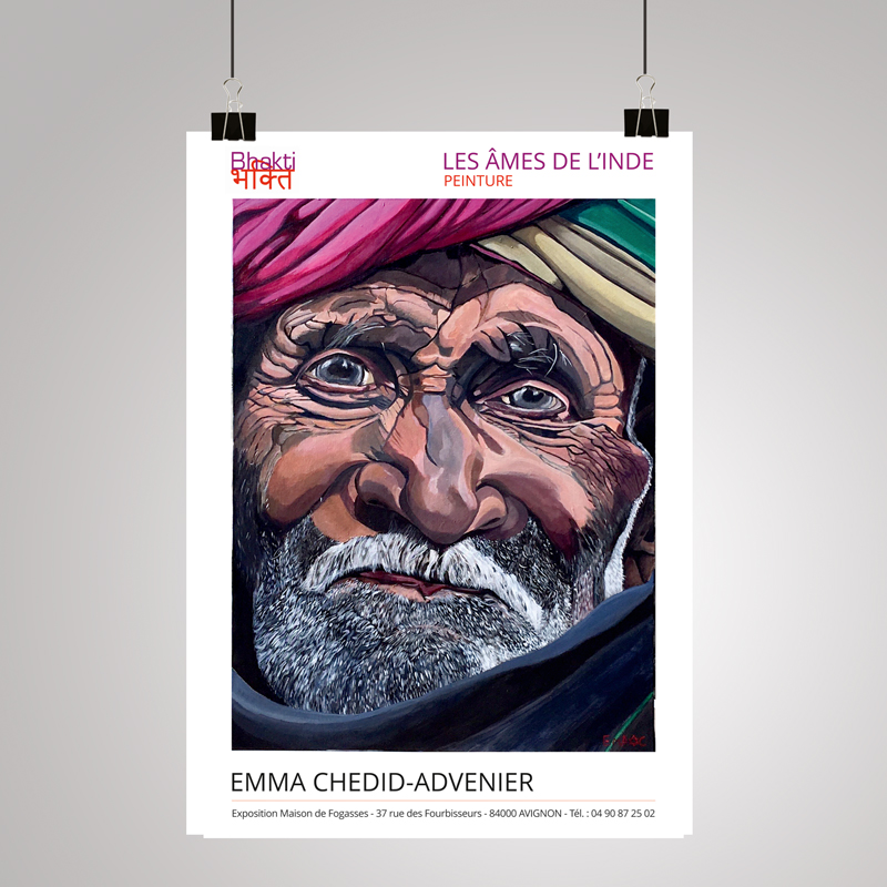 Création de l'affiche pour l'exposition Bhakti à Avignon