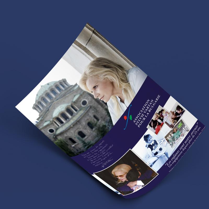 Plaquette de l'Association Sylvie Vartan pour la Bulgarie