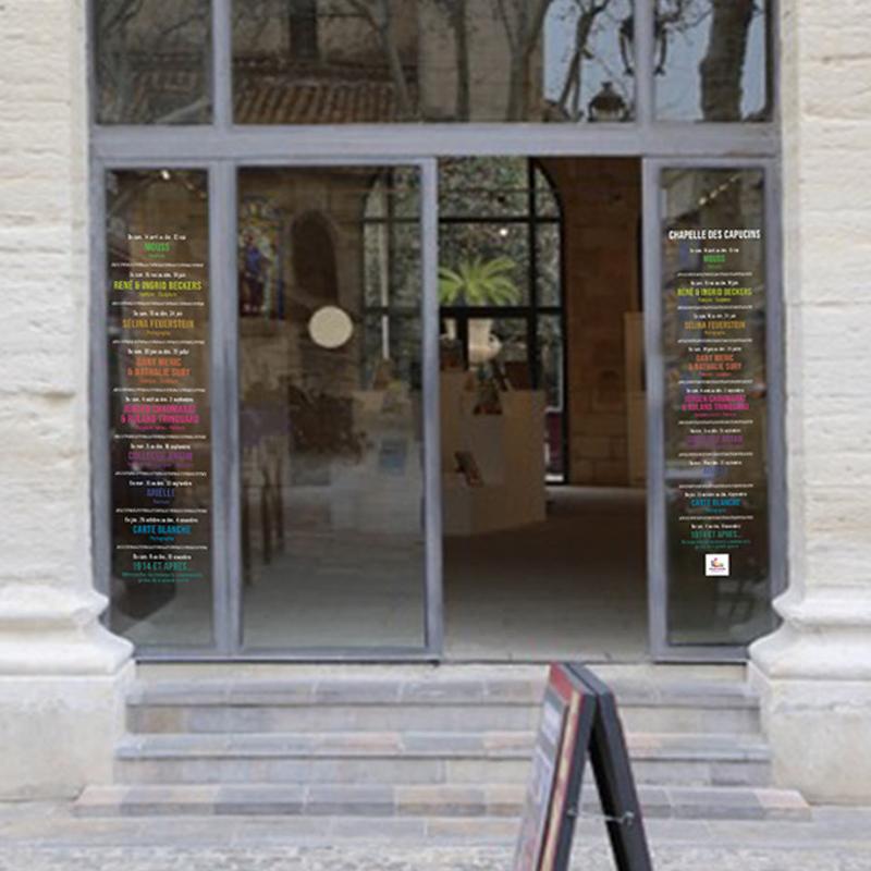 VITROPHANIE POUR LA CHAPELLE DES CAPUCINS, LIEU D'EXPOSITION