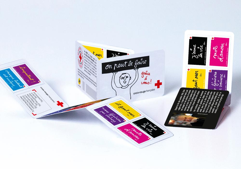 Carnet de 10 timbres signés Ben pour La Poste au profit de la Croix-Rouge française. Création graphique : Agence Bonne Impression