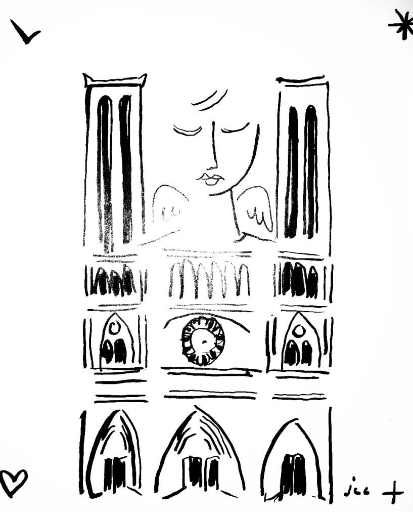 Cathédrale Notre-Dame de Paris selon Jean-charles de Castelbajac