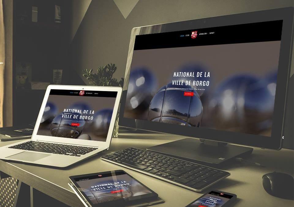 La Boule Sportive de Borgo (Site association, Web vitrine)