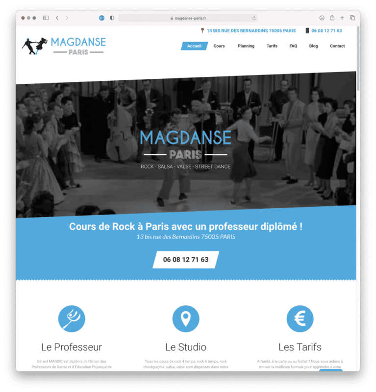 MagDanse, cours de danse à PARIS (5e), réalisation Agence IDEO