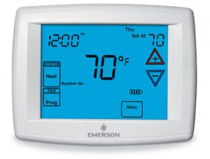 Touchscreen thermostat