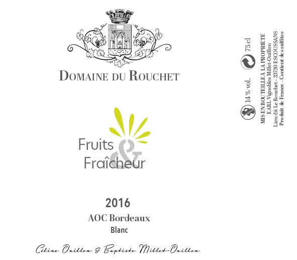 Domaine du Rouchet - Fruits et fraicheur - Blanc