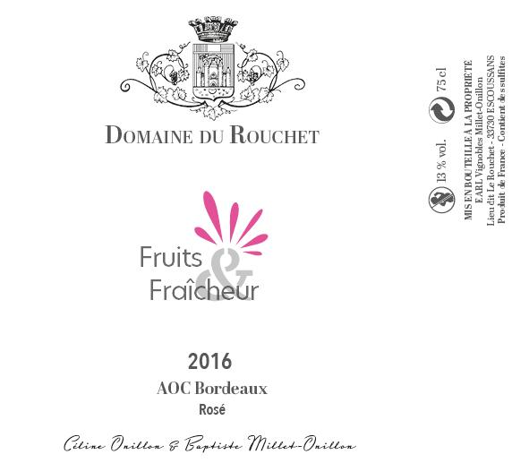 Domaine du Rouchet - Fruits et fraicheur - Rosé