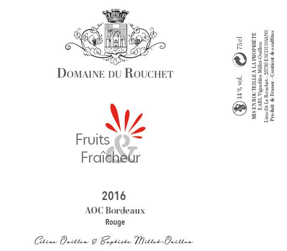 Domaine du Rouchet - Fruits et fraicheur - Rouge