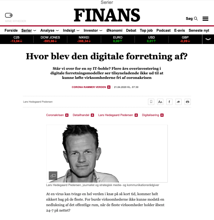 Hvor blev den digitale forretning af?