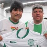 Evo Morales y Pablo Moyano jugaron al fútbol en el predio de Camioneros