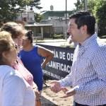 """Leo Nardini recorrió las inmediaciones de la Plaza """"Domingo Miguel Azar"""""""