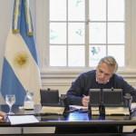 El Presidente Fernández agradeció al Presidente Macrón el acompañamiento a la propuesta ante el FMI y el Club de París
