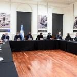 """El Jefe de Gabinete de ministros Santiago Cafiero analizó con Capital y provincia de Buenos Aires los """"próximos pasos de la cuarentena"""""""