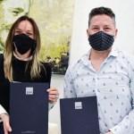 """Gustavo Menéndez y Malena Galmarini firmaron un convenio """"para poner en marcha importantes obras de agua y cloaca para Merlo"""""""