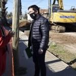 """Leo Nardini visitó la obra integral que realizan en la calle José Verdi en Los Polvorines: """"cada vez que llueve los vecinos la pasan mal"""""""