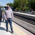 Leo Nardini recorrió el avance de obras de las estaciones ferroviarias del Belgrano Norte en Malvinas Argentinas