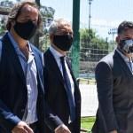Gustavo Menéndez recibió al ministro Alak y visitaron el predio donde se construirá el Departamento Judicial, las Penitenciarías y la Alcaldía