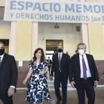 Alberto Fernández y Cristina Fernández de Kirchner encabezaron el acto en la exEsma en el Día Internacional de los Derechos Humanos