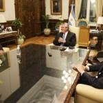 El Presidente Fernández recibió a Juan Manuel Llamosas el intendente de Río Cuarto reelecto en las elecciones del domingo