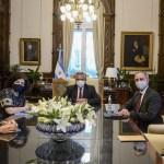"""Presidente Fernández recibió a funcionarios mexicanos: """"abordaron el acuerdo estratégico para producir y distribuir la vacuna de Oxford"""""""