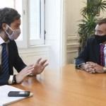 Santiago Cafiero recibió a Martín Soria futuro ministro de Justicia y Derechos Humanos de la Nación
