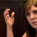 """Ministra Teresa García: """"La mentira tiene patas cortas y Sarlo tuvo que reconocer que no hubo nada por debajo de la mesa"""""""