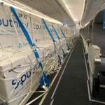 El undécimo vuelo de Aerolíneas Argentinas retorna desde Rusia con un nuevo cargamento de vacunas Sputnik V contra el coronavirus