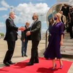 El Presidente Fernández y su comitiva fueron recibidos por el jefe de Estado de Portugal Marcelo Rebelo de Sousa