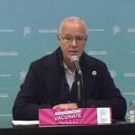 """El ministro Gollan advirtió que se mantuvo la """"caída de los casos"""" de coronavirus pero no """"impactó en la liberación de camas"""""""