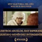 Premio internacional para el spot electoral del intendente Gustavo Menéndez