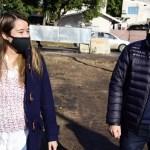 """Leo Nardini recorrió nueva obra de pavimentación en Grand Bourg: """"Los vecinos hoy empiezan a ver un sueño realizado"""""""