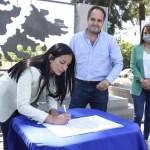"""Noe Correa y Santiago Maggiotti visitaron el Plan de Viviendas """"Conjunto Residencial Morse"""", en Ing. Pablo Nogués"""