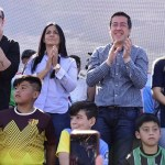 Leo Nardini, Noe Correa y Luis Vivona encabezaron el lanzamiento de las Ligas Deportivas en Malvinas Argentinas