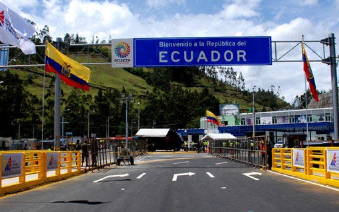 Gobierno estudia reabrir la frontera terrestre con Ecuador a partir de noviembre