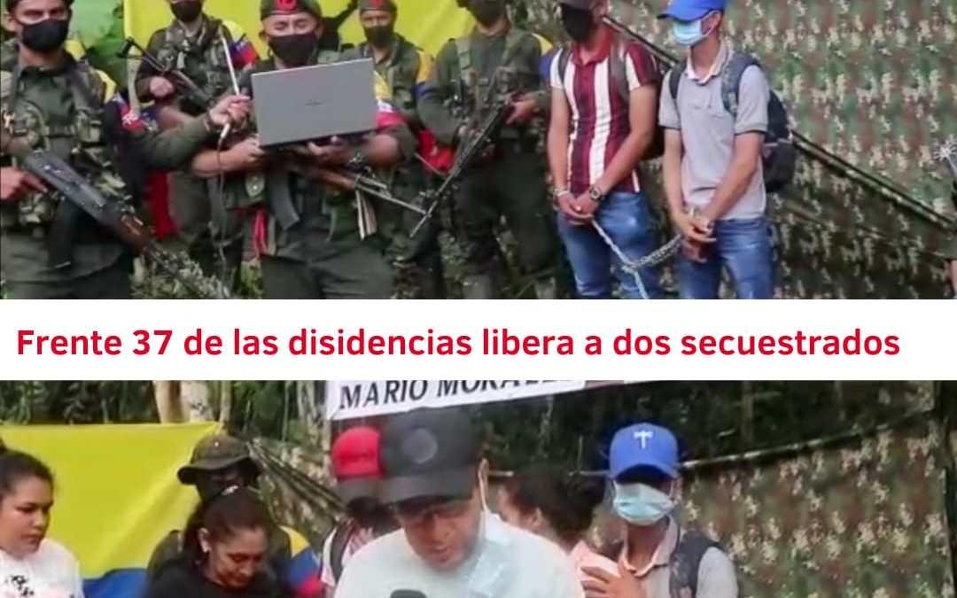 Frente 37 de las disidencias de las FARC libera a dos jóvenes secuestrados hace 18 días
