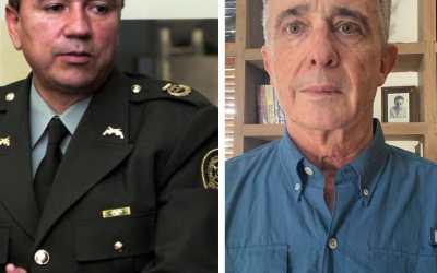 Gr. Santoyo, exjefe de seguridad de Uribe a la JEP. Ojalá cante algo más que el himno nacional !