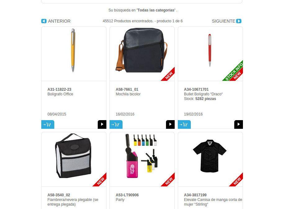 Buscador merchandising