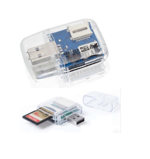 Adaptador Lector Tarjetas Micro SD HC MICRO SD MS DUO M2 a USB