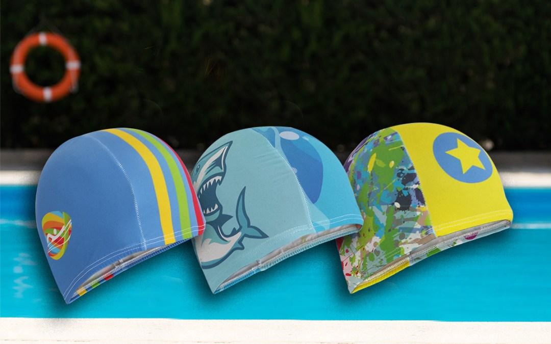 Gorros de natación, personalizados todo color