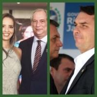 """Ciro grita com Flávio Bolsonaro:  """"Cadê o Queiroz ?"""""""