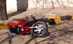 Motociclista ingreso al hospital con fractura de cráneo