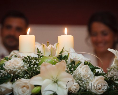 Las flores en una boda Photogenic