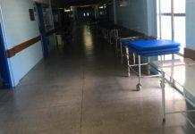 corredor vazio no Hospital Regional de Guanambi