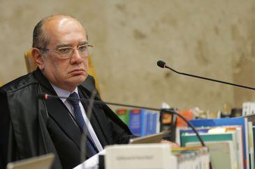 Ministro do Supremo Tribunal Federal (STF) Gilmar Mendes durante sessão para julgamento sobre a restrição ao foro privilegiado.